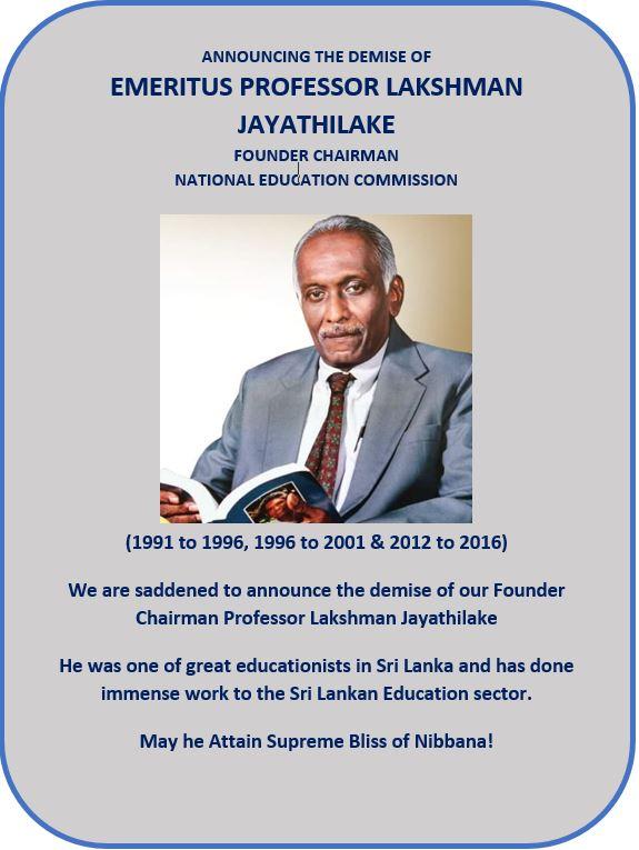 Prof.LakshmanJayathilake